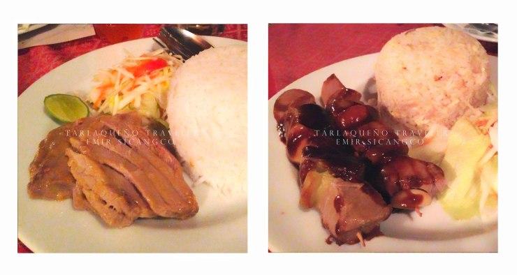 Fish steak and fish kebab