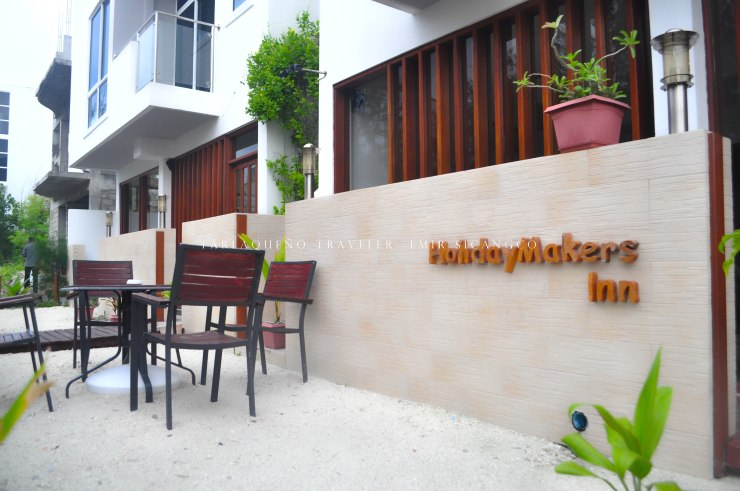 Holiday Makers Inn, our home in Hulhumale