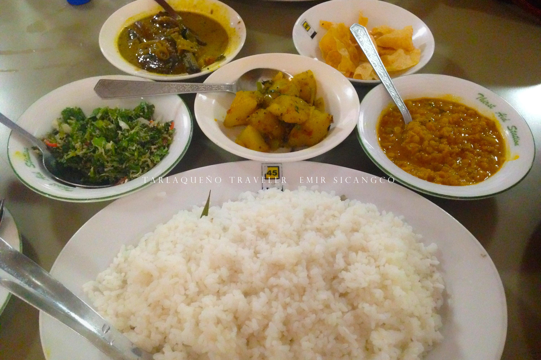 Vegetarian meal, Sri Lankan style