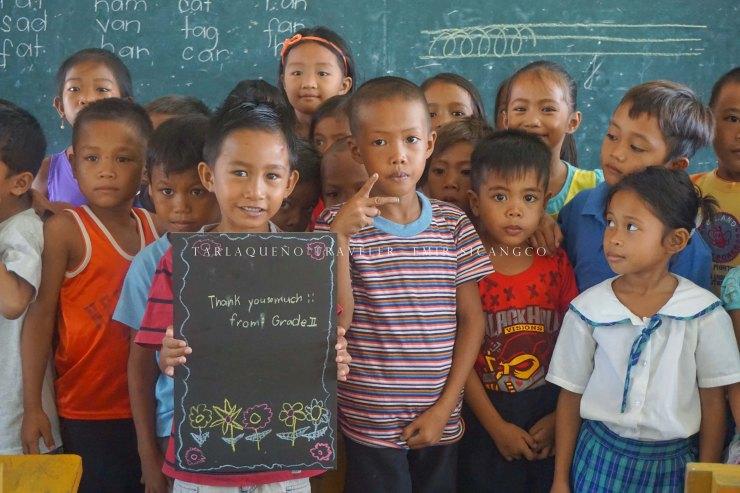 Grade 2 pupils express their gratitude